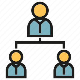 business, diagram, office, organization, people icon