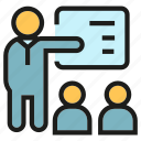 lecture, office, people, presentation, training icon