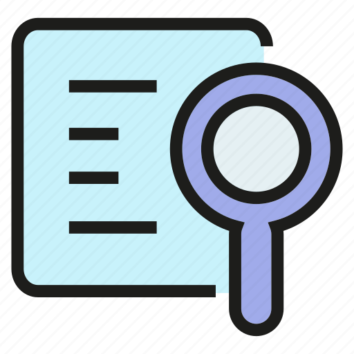 Document, job application, magnifier, paper, search icon - Download on Iconfinder