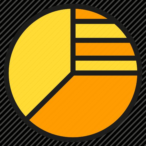 data, info, market share, pie chart, stats icon