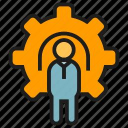 cog, gear, people icon