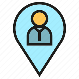 location, people, pin, position icon