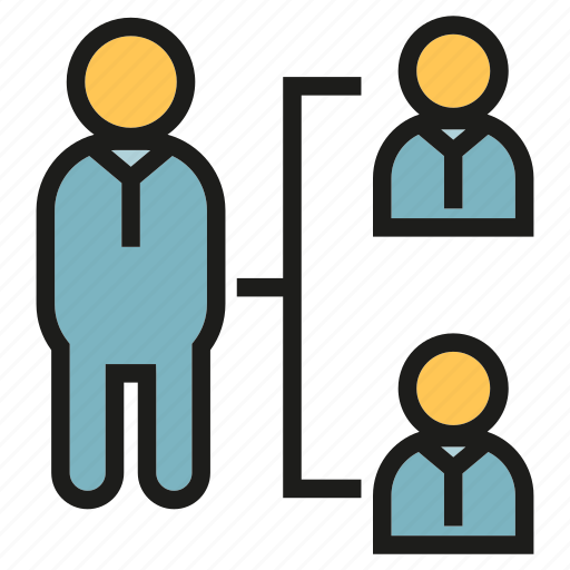 diagram, leader, office, organization chart, people, worker icon