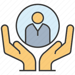 hand, hold, human resource, manpower, people icon