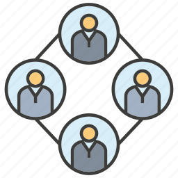 diagram, human resource, manpower, people icon