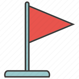 flag, goal, success, target icon