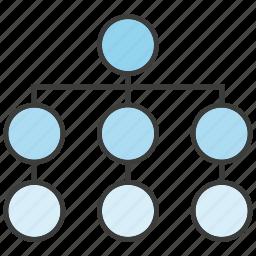 chart, diagram, organization chart, strategy icon