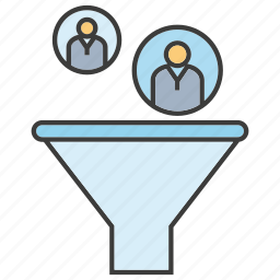 choose, filter, funnel, human resource, manpower, recruitment icon
