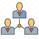 diagram, management, manpower, office, organization, organization chart, people icon