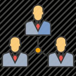 diagram, management, manpower, office, organization, organization chart, people icon