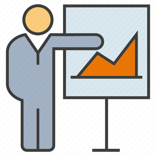 chart, graph, office, people, present, presentation icon