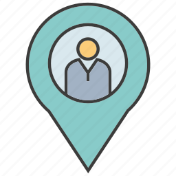 location, people, pin, pointer icon