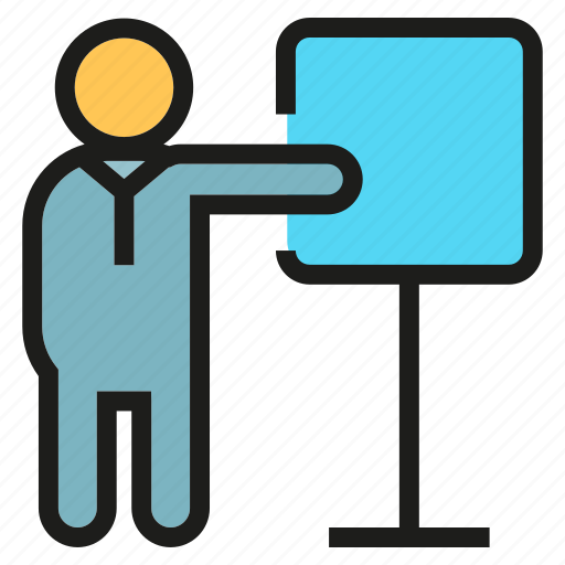 Lecture, office, people, presentation, training, whiteboard, worker icon - Download on Iconfinder