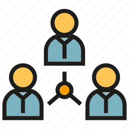 connection, diagram, link, management, organization chart, people icon