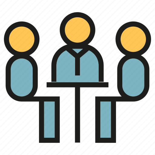 Business meeting, conference, consulting, meeting, office, people, sitting icon - Download on Iconfinder