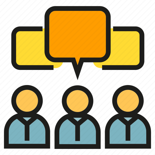 chat, community, people, speech bubble, talking icon