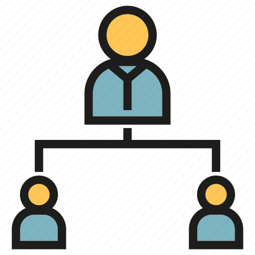 diagram, leader, management, office, organization chart icon
