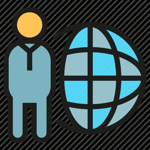 global, globe, people, world icon