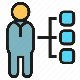 diagram, organization chart, people icon