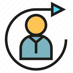 arrow, management, people, rotate icon