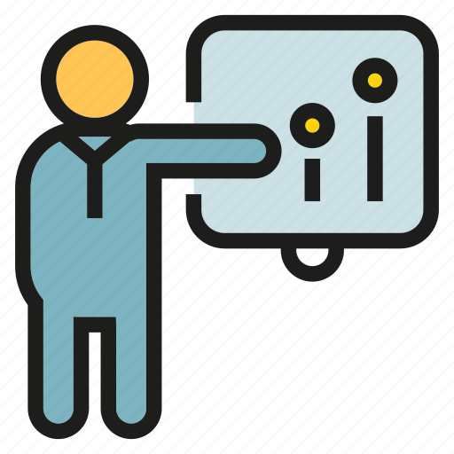Chart, graph, lecture, office, people, presentation, worker icon - Download on Iconfinder