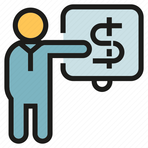 finance, money, office, people, presentation icon