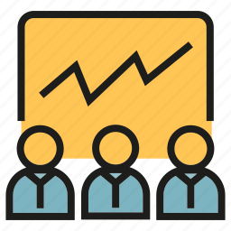 chart, graph, monitoring, office, people, stock market, training icon