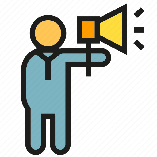 Announce, megaphone, people, speaker icon - Download on Iconfinder