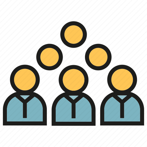 crowd, group, people, teamwork icon