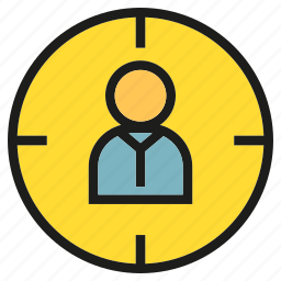 crosshair, goal, people, target icon