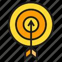 arrow, dart, focus, game, goal, target icon
