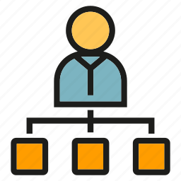 boss, diagram, leader, management, organization chart, people icon