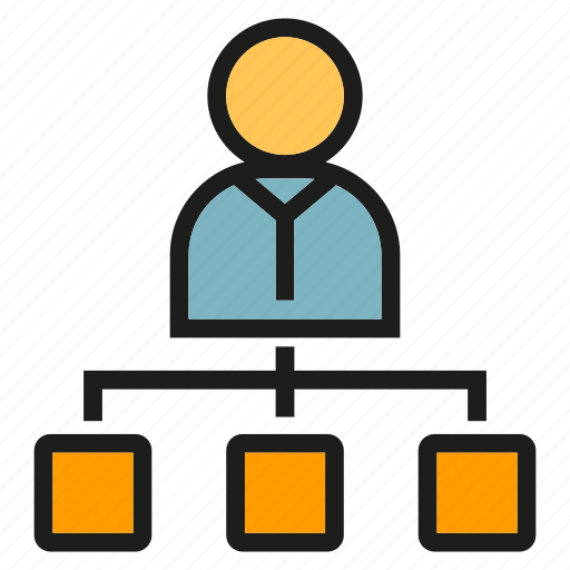 Boss, diagram, leader, management, organization chart, people icon - Download on Iconfinder