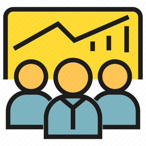 lecture, monitoring, office, people, presentation, training, worker icon