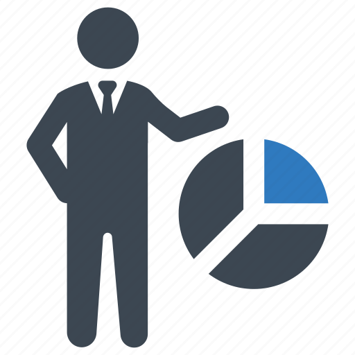 analytics, pie chart, presentation icon