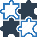 business, piece, puzzle, solution icon