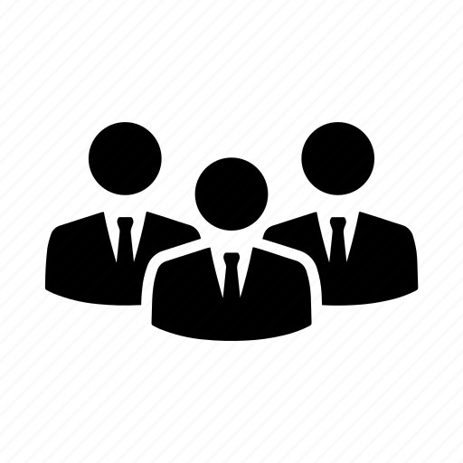 business men, delegates, group, managers, people, users icon