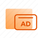 ads, advertising, banners, business, creativity, marketing, online marketing icon