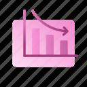business, chart, data, decrease, graph, marketing, strategy