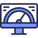 computer, gauge, monitor, seo, speed icon
