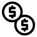 currency, dollar, money, payment, payout icon