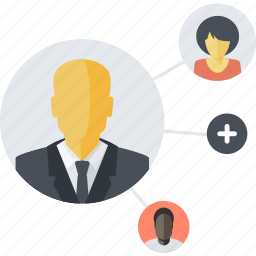 communication, community, flat design, networking, people, social icon