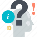 answer, faq, help, information, question, support icon