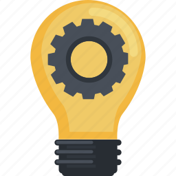 business, development, flat design, idea, innovation icon