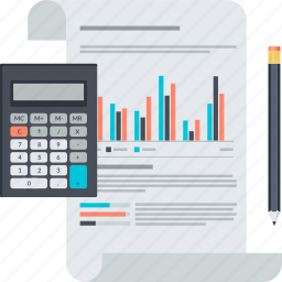 analysis, business, flat design, management, planning, report icon