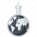 business, flat design, globe, market, research icon