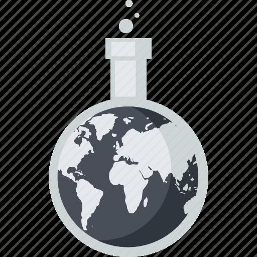 business, globe, market, research icon