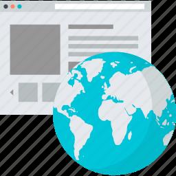 development, flat design, internet, network, online, presence, website icon