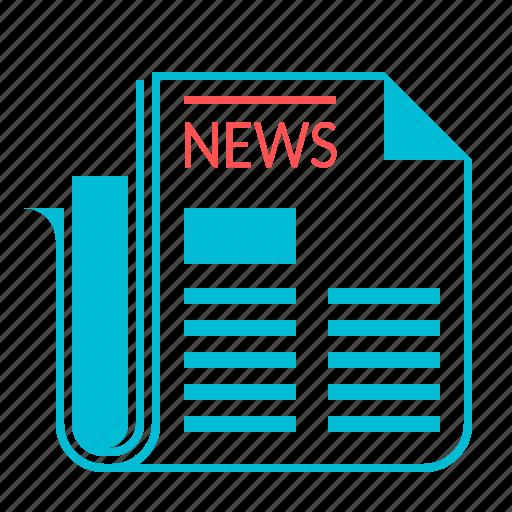 blog, events, news, newspaper icon