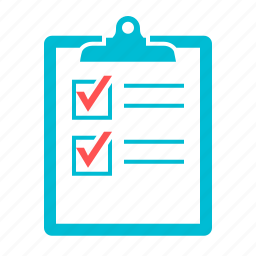 checklist, clipboard, form, list, mark, questionnaire icon